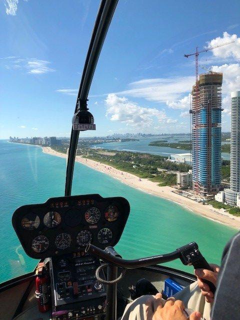 hélicoptère miami beach vue du ciel