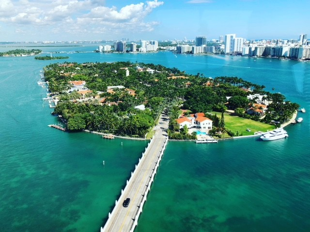 Miami star island vue du ciel