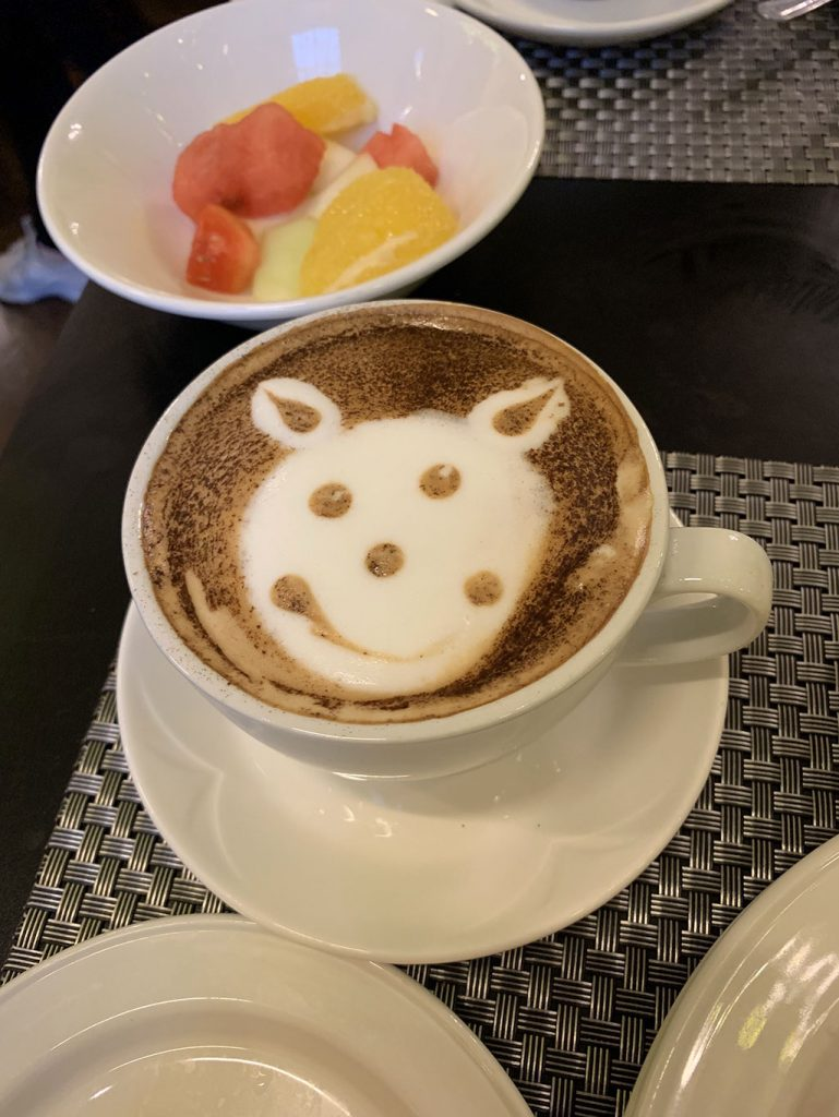 cappuccino mousse dessinée smiley londres