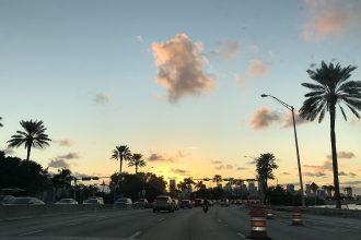 coucher de soleil route miami