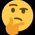 emoji qui réfléchit